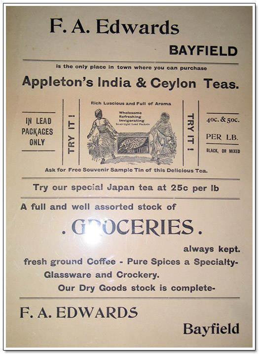 Bayfield Edwards Groceries Ephemera