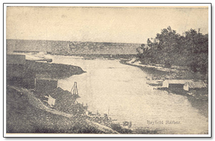 Bayfield Harbour Postcard 1903
