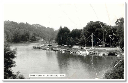 Bayfield Boat Club Postcard