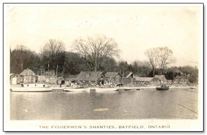 Fisherman Shanties Bayfield Harbour Postcard
