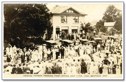 Orange Parade Bayfield 1930 Postcard