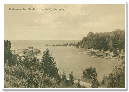 Entrance to Bayfield Harbour Postcard