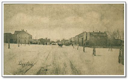 Downtown Bayfield Postcard