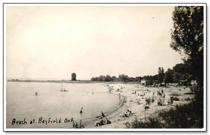 Beach at Bayfield Postcard