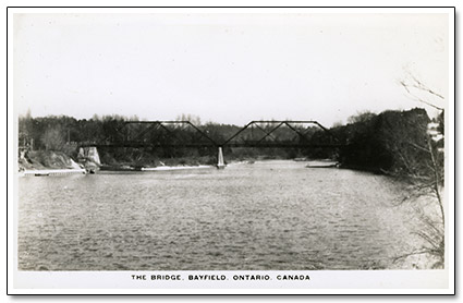 Bayfield Bridge Truss Postcard