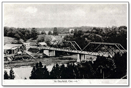 Bayfield Bridge and Saw Mill Postcard
