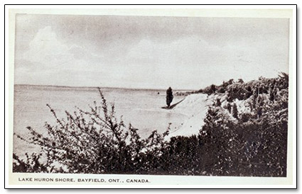 Bayfield Beach Shoreline Postcard